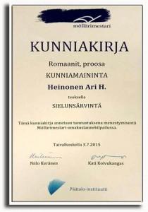 Kunniakirja Sielunsärvintä 2015