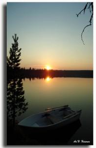 Maantiesusi 33 Aurinko laskee Kontosjärvellä